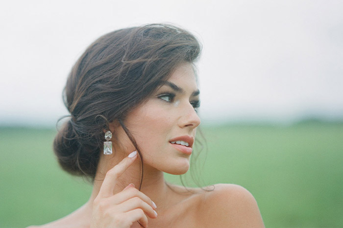 Gorgeous hair and makeup editorial shoot at Pursell Farm, Alabama